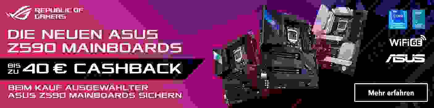 Asus Z590 Cashback Aktion