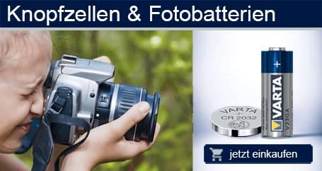 Knopfzellen & Fotobatterien