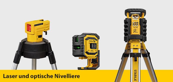 Laser und optische Nivelliere