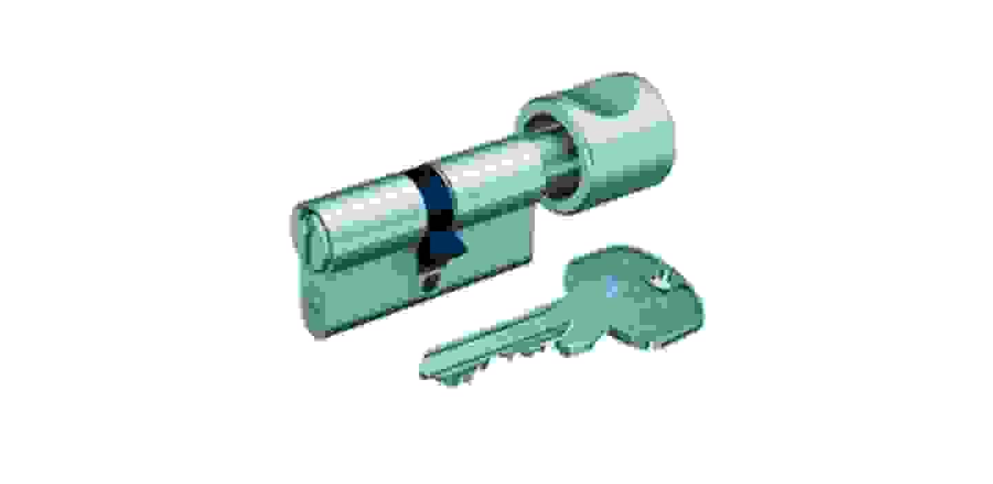 Basi Cylindre profilé de serrure à bouton 35