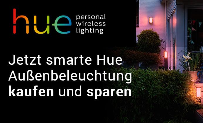 Philips Hue Outdoorleuchten Aktion