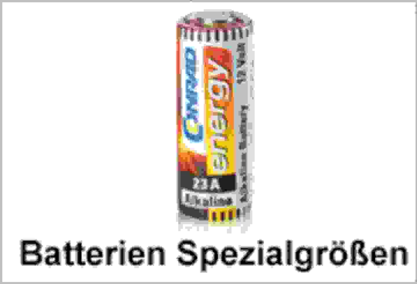 Conrad Energy Batterie-Spezialgrößen