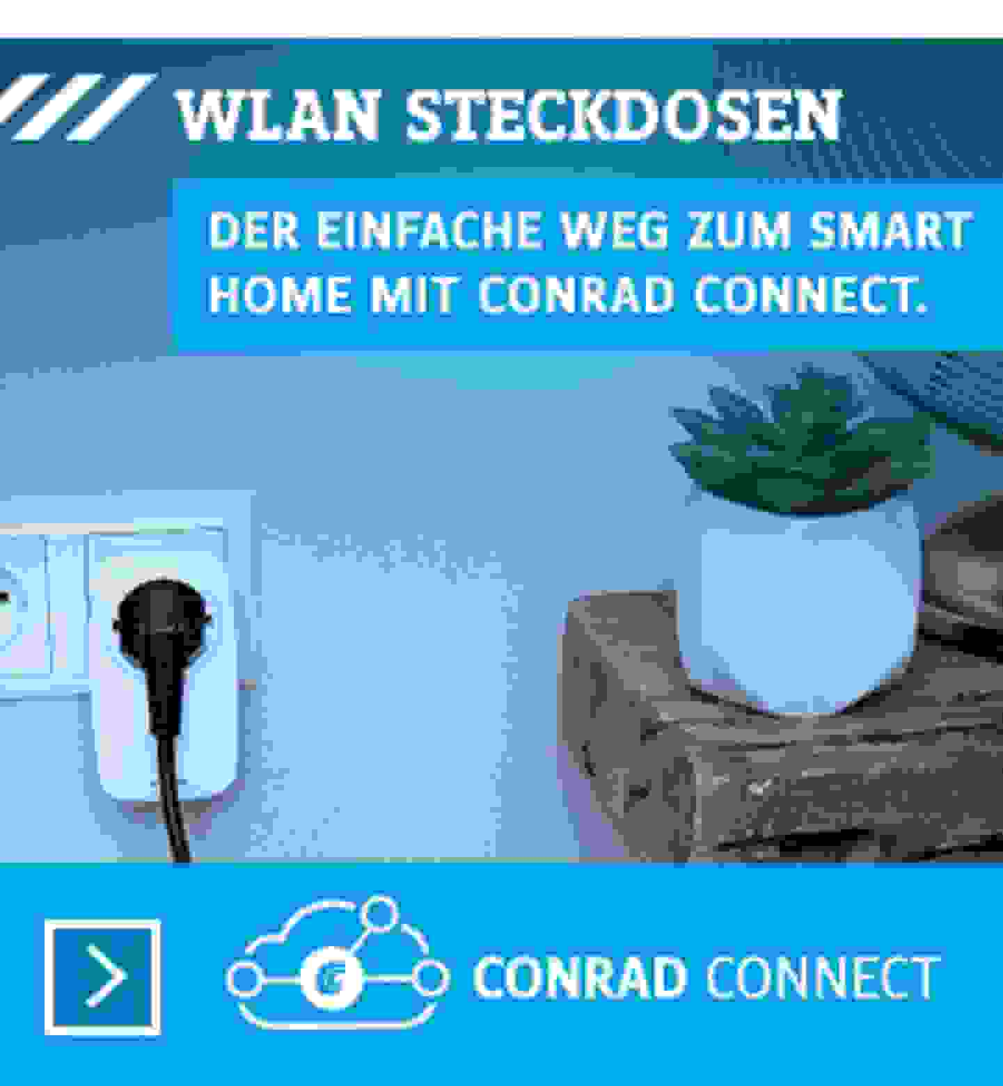 Conrad Connect: WLAN-Steckdosen