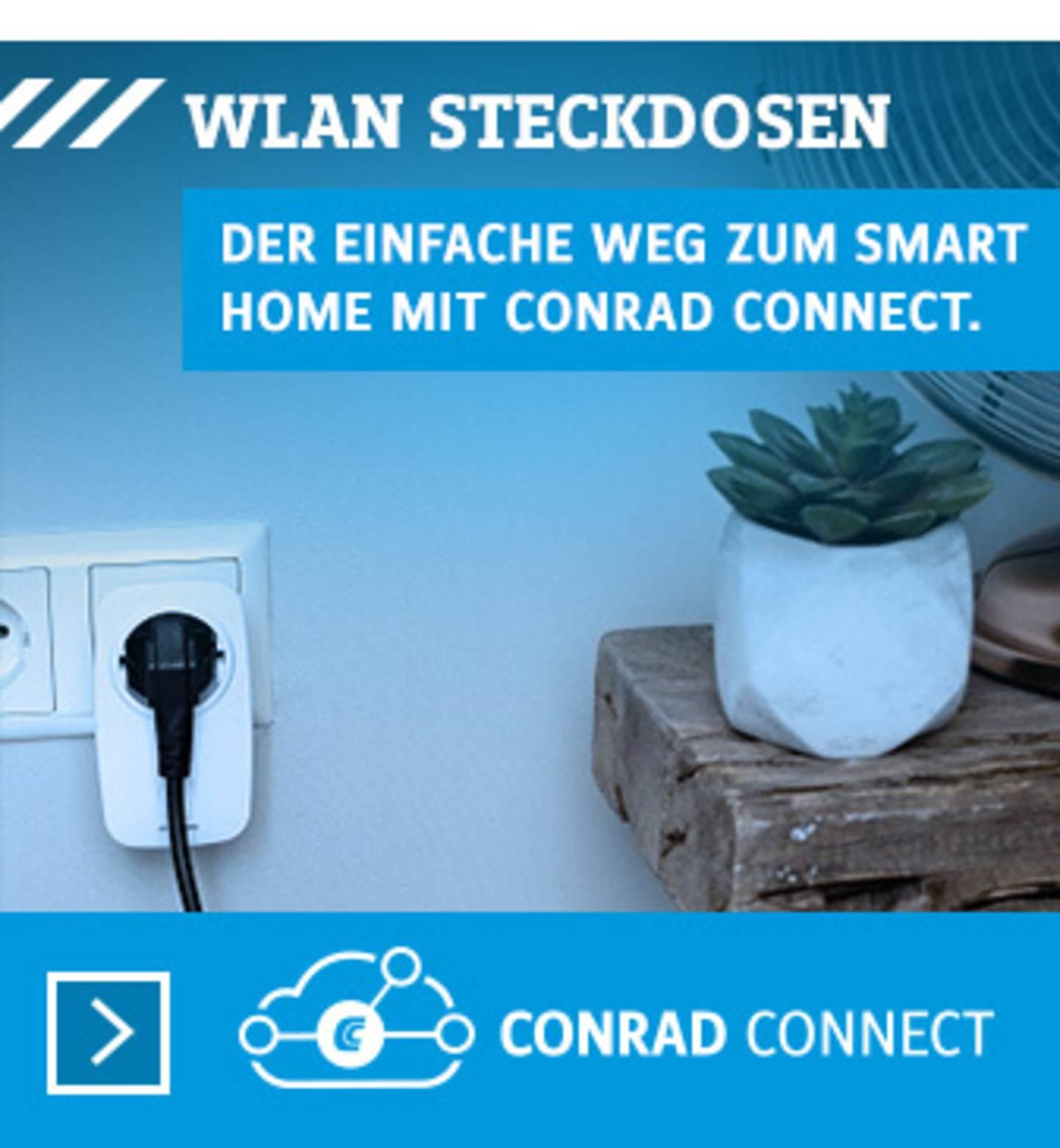 Conrad Connect: WLAN-Steckdosen