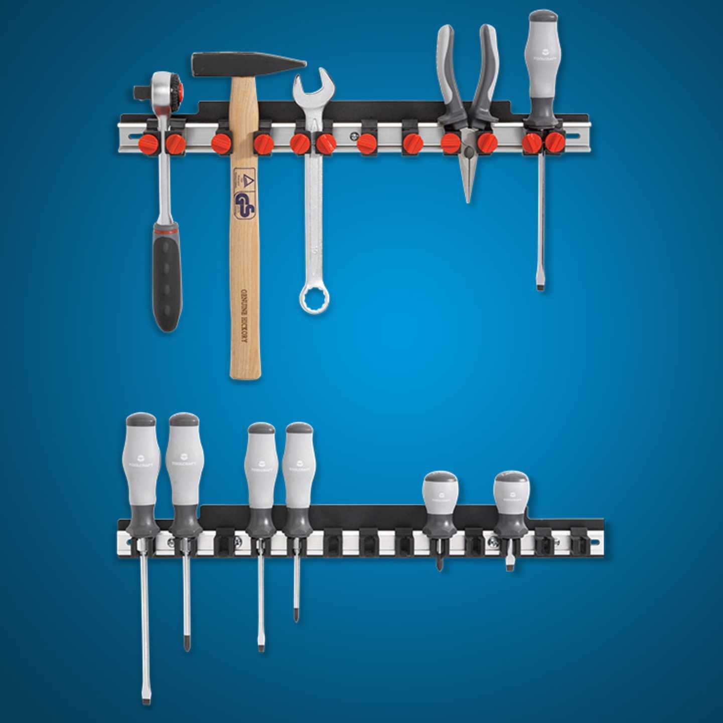 Toolcraft - Werkzeugleisten-Set