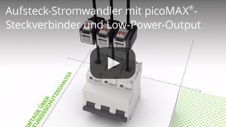 Aufsteck-Stromwandler mit picoMAX®-Steckverbinder und Low-Power-Output