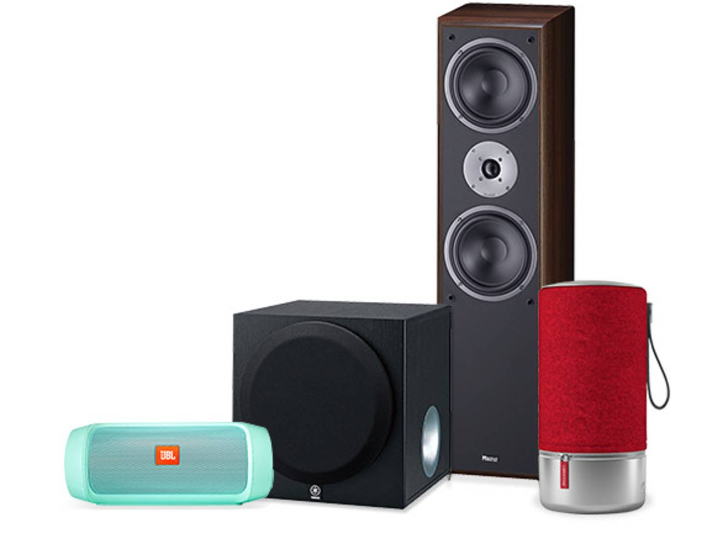 Verschiedene Lautsprecher