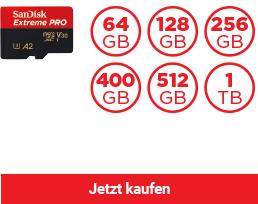 SanDisk Extreme PRO® microSDHC™/ microSDXC™ Speicherkarte (A2)