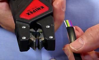 KNIPEX WTV Automatische Flachkabel-Abisolierzangen