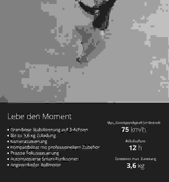 DJI RONIN-S – Lebe den Moment