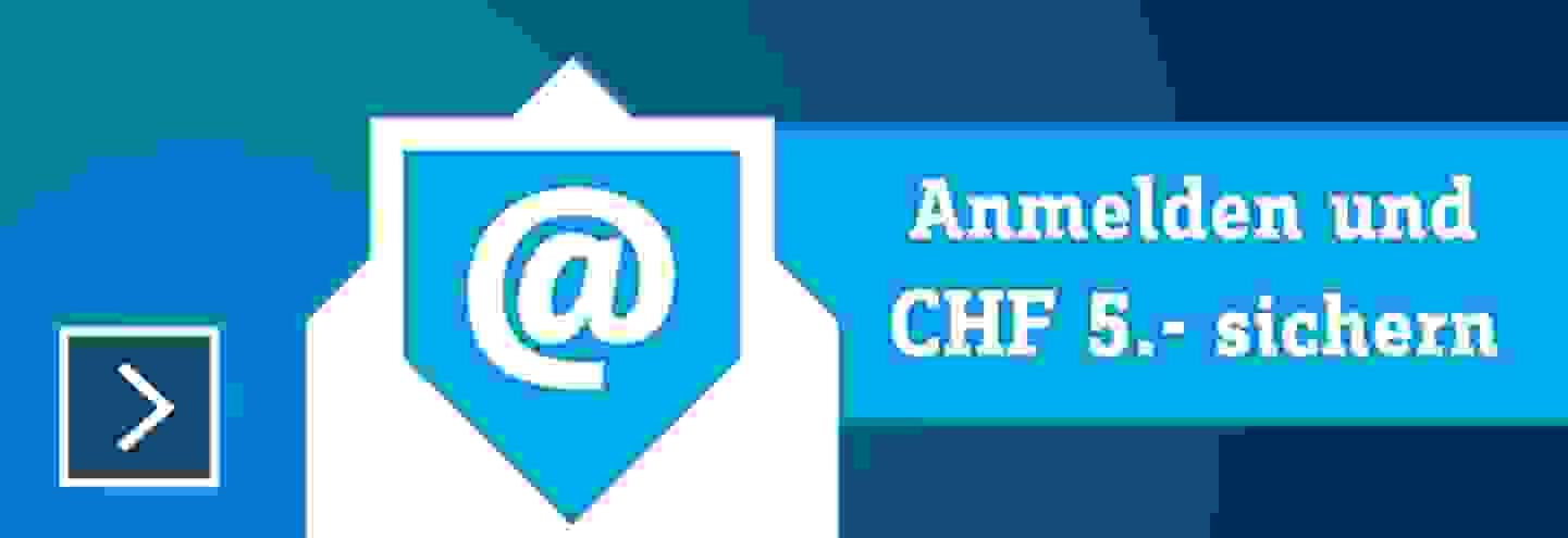 Der Conrad Newsletter jetzt kostenlos anmelden und CHF 5.- Gutschein sichen »