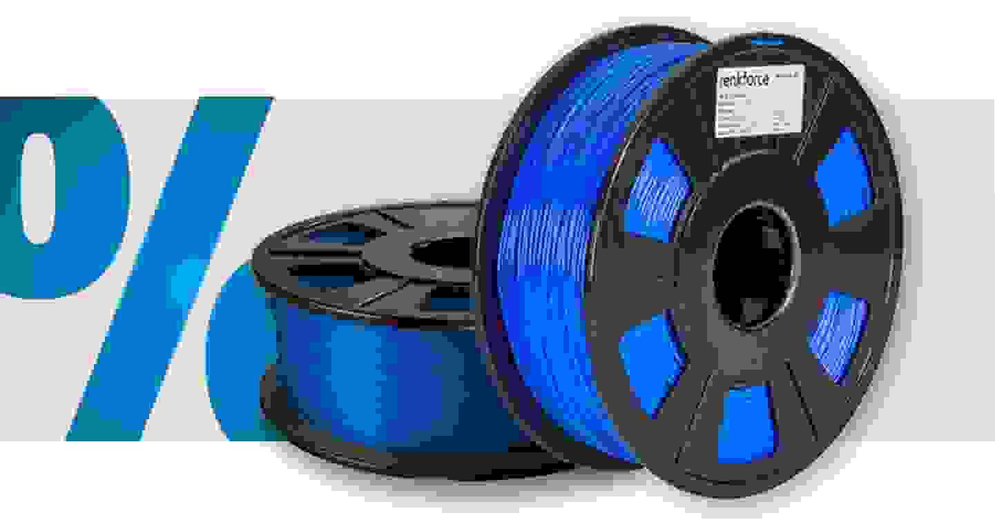 Renkforce - Filament   PLA   1.75mm   Blau   1kg »