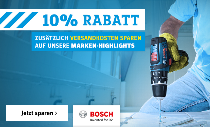 10% Rabatt auf Bosch
