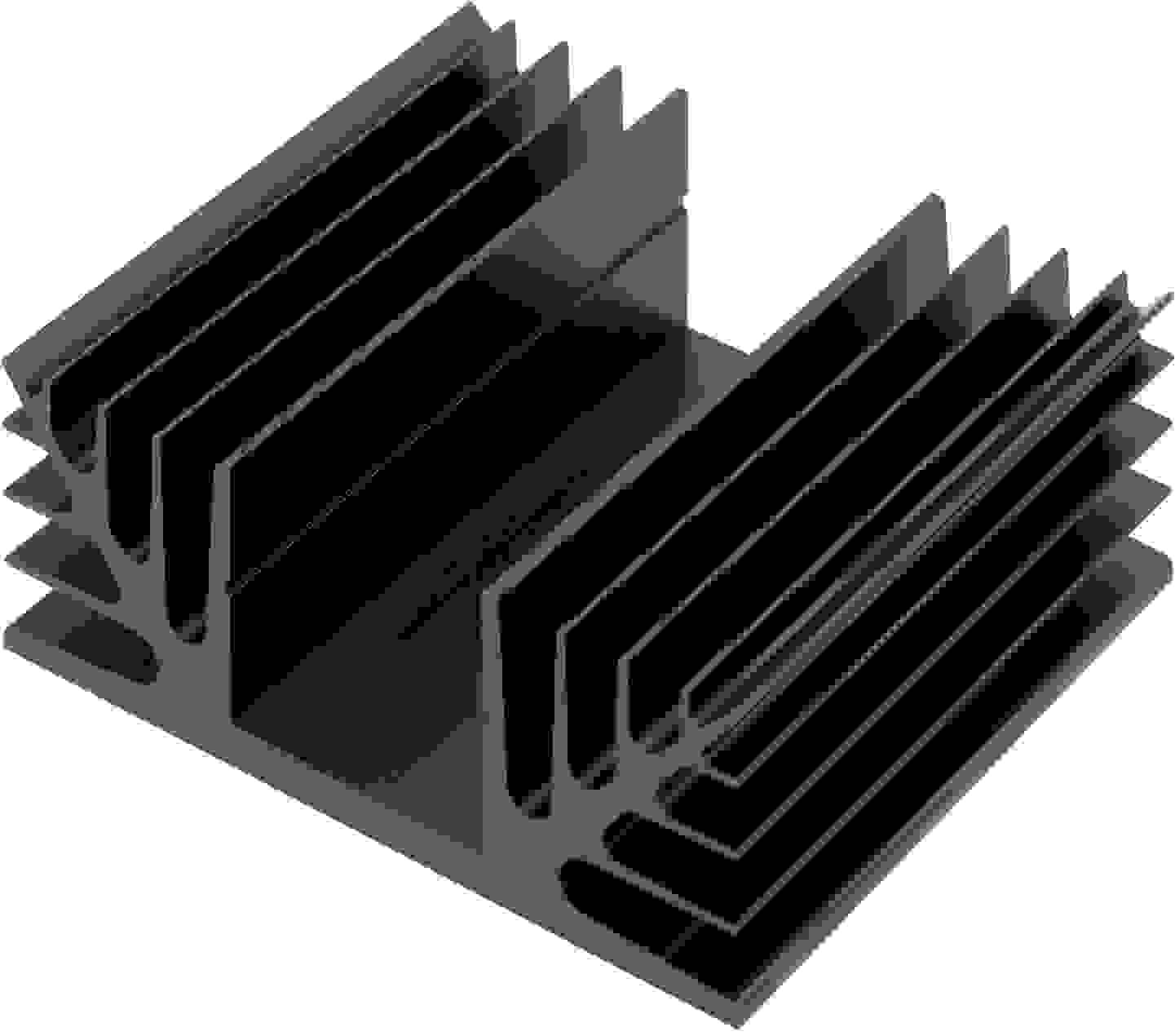 ühlkörper aus eloxiertem Aluminium mit Lamellen nach außen