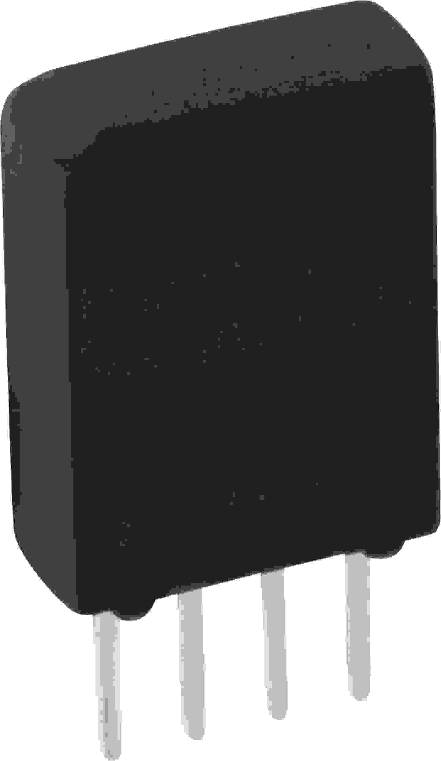 Relais in einem SIL-Gehäuse und außen vier Lötpins zum Anschluss