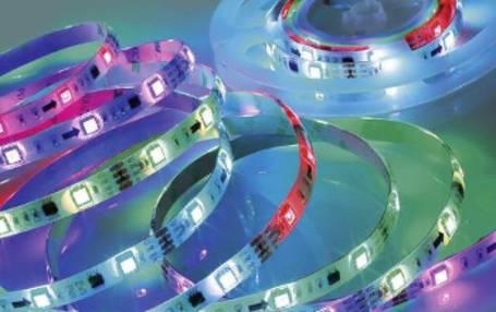 Bunte RGB-Lichtbänder