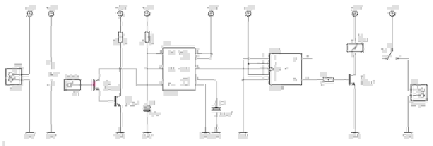 Circuit lampe tactile