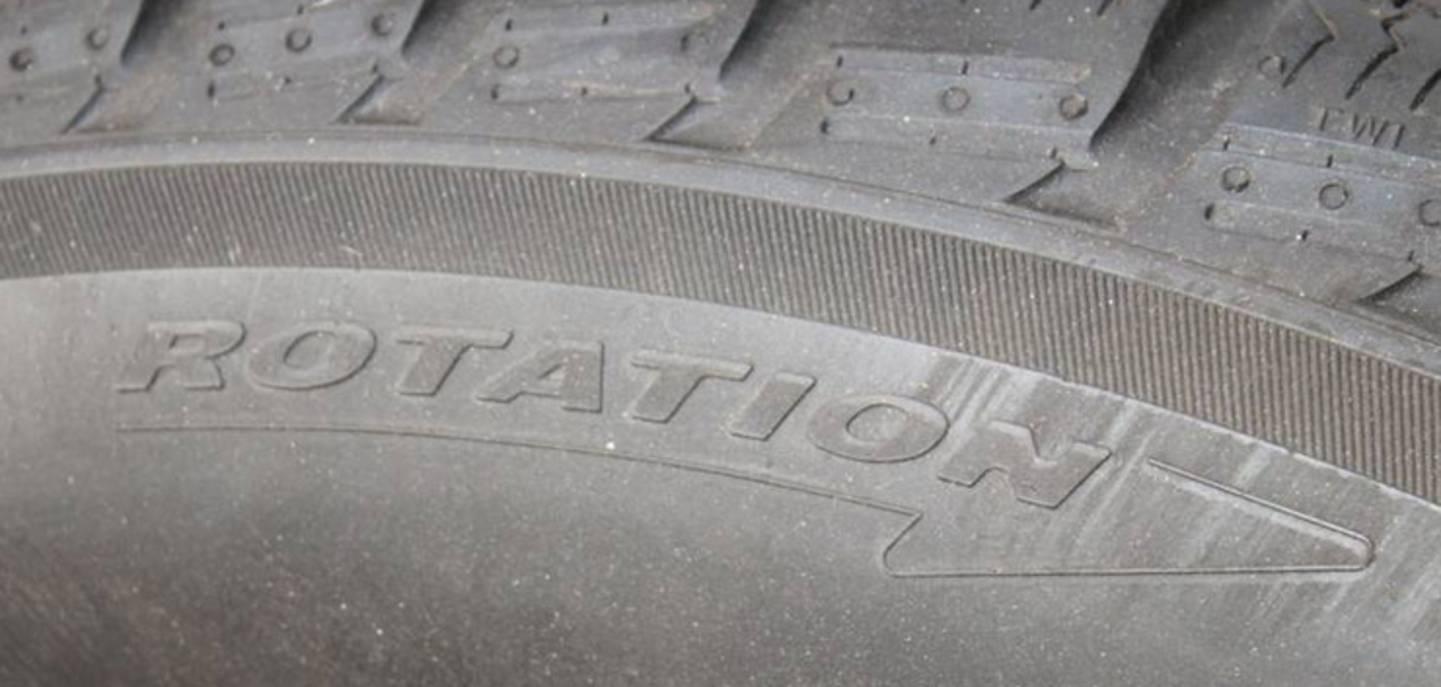 Contrôler le sens de roulement du pneu