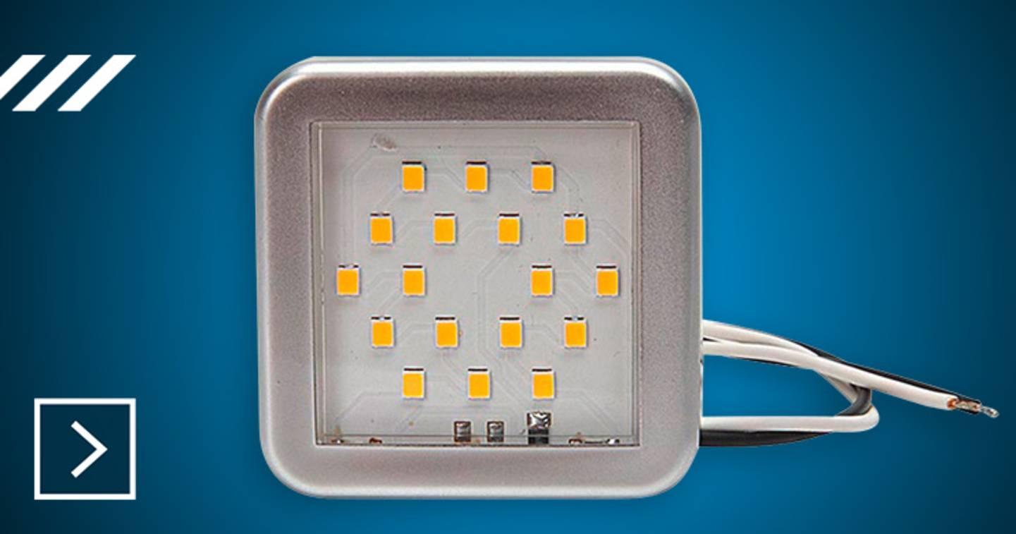 SecoRüt - Lampe LED d'intérieur 55 x 55 x 7 mm »
