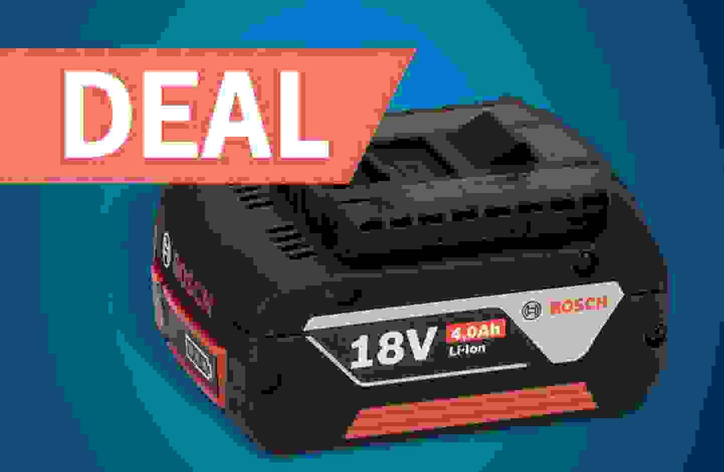 Bosch Professional - Une batterie offerte pour l'achat d'un outil Bosch Professional 18V.