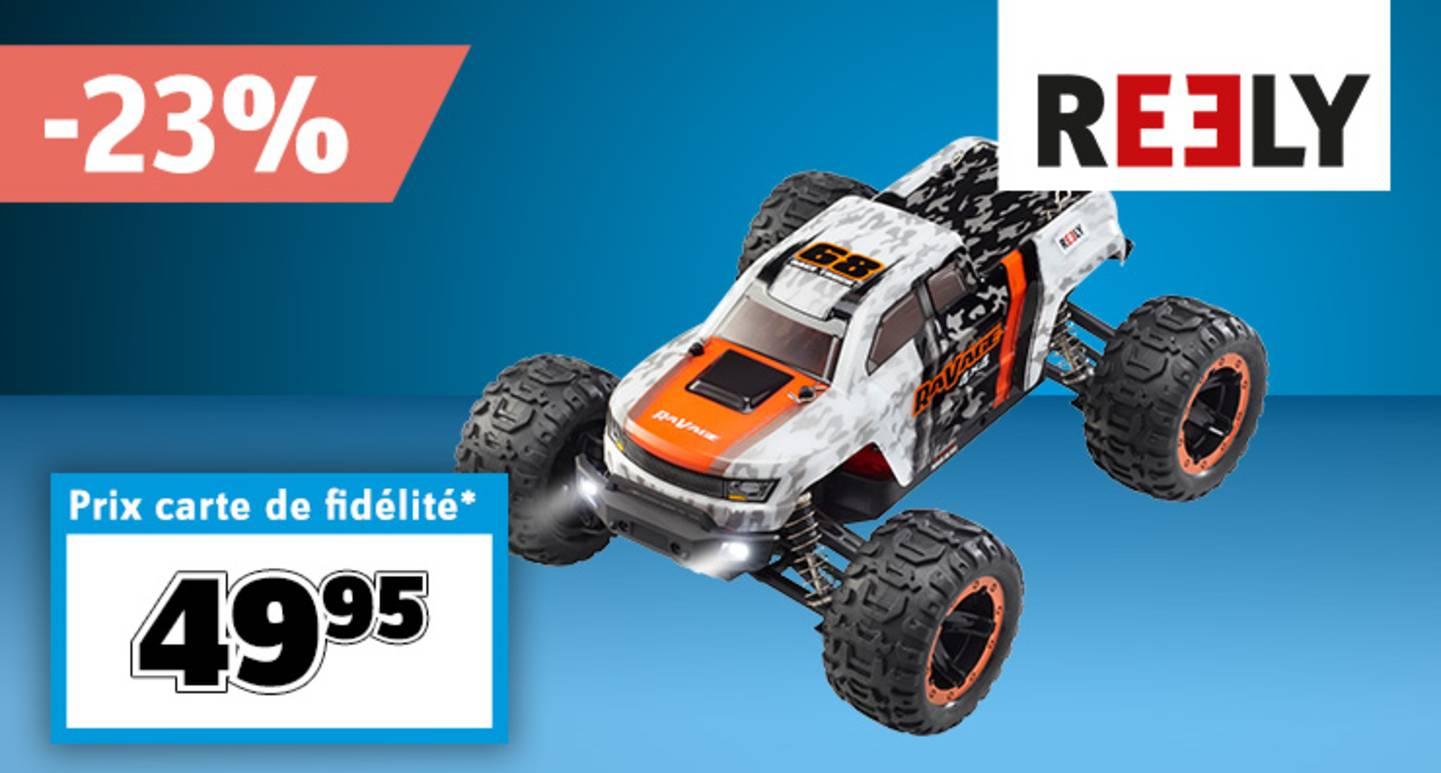 Reely - Monstertruck RC  RaVage 4x4 brushed 1:16 électrique RtR 2,4 GHz avec batterie