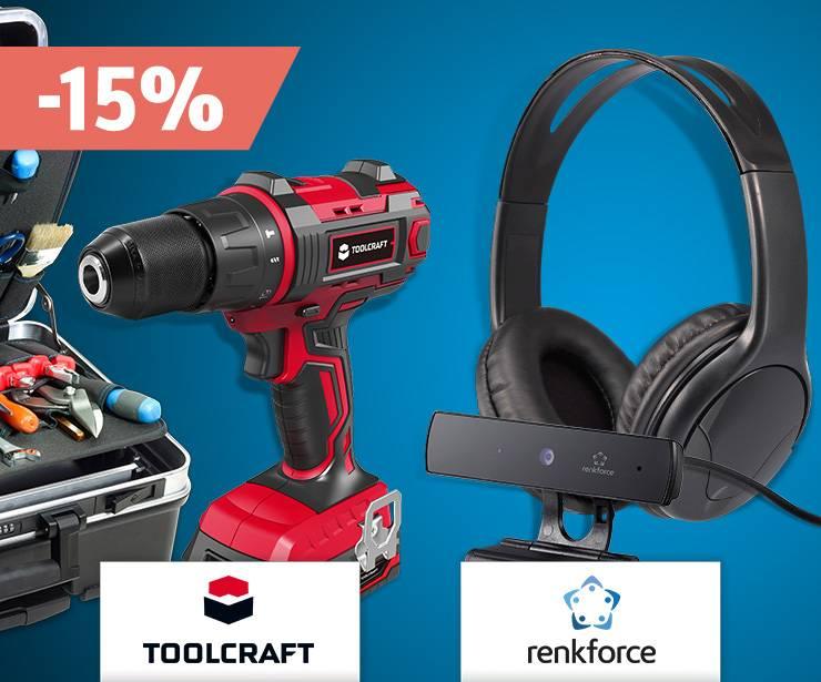 15% de remise sur toute la gamme Toolcraft et Renkforce »