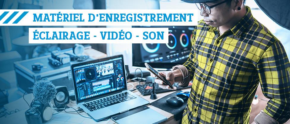 Matériel d'enregistrement pour création de contenus »