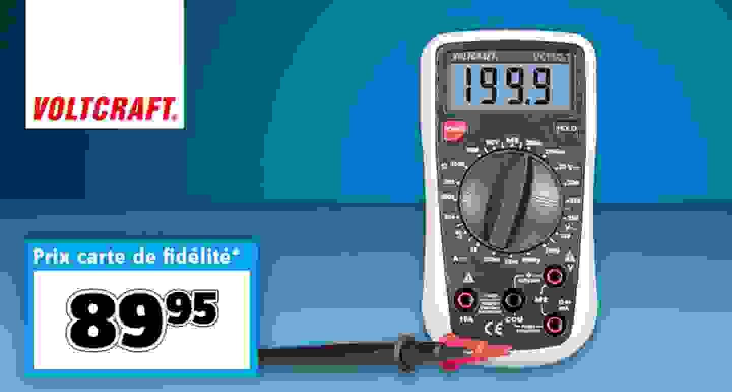 VOLTCRAFT - VC130-1 Multimètre numérique CAT III »