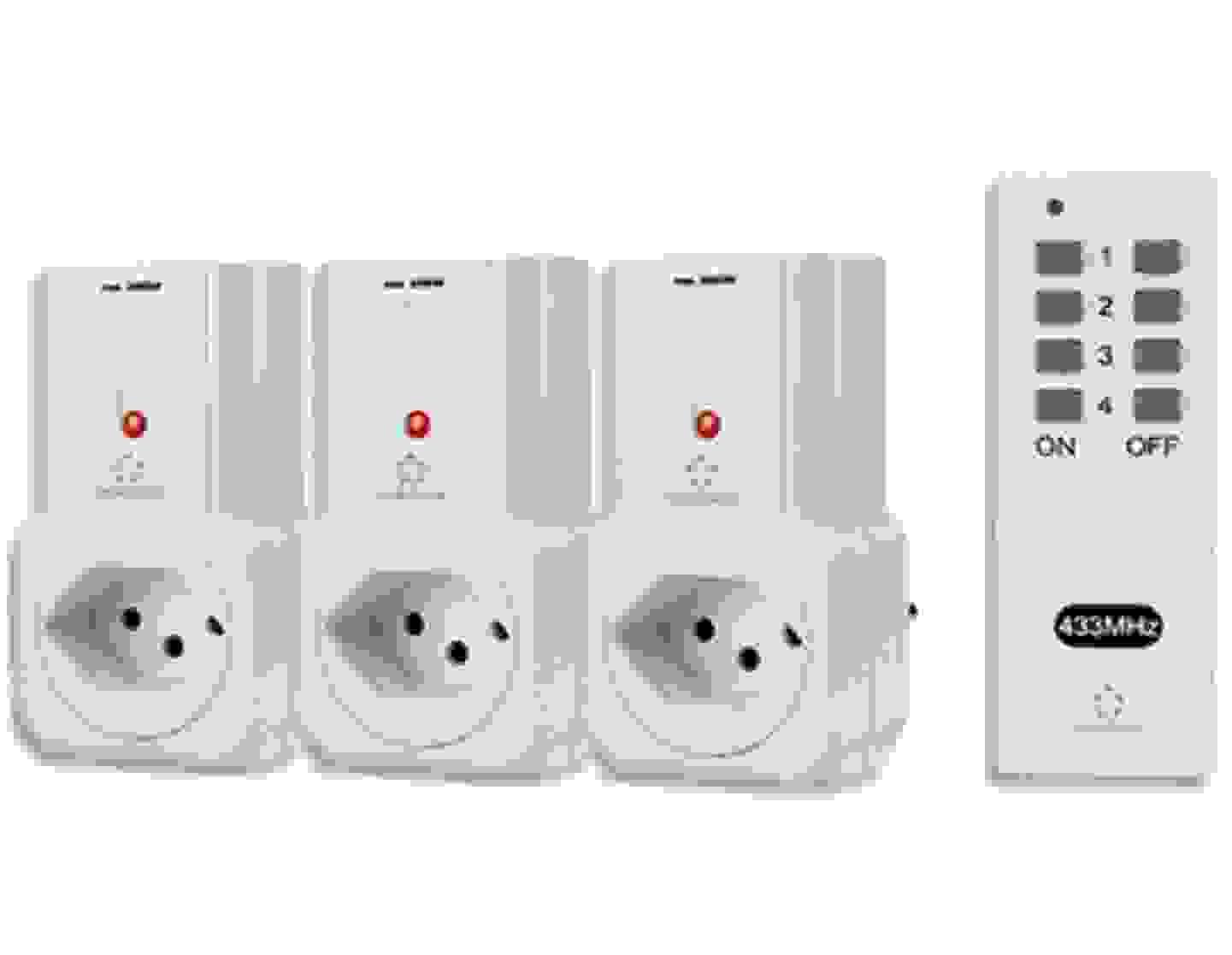 Renkforce - Set de 3 prises + télécommande »