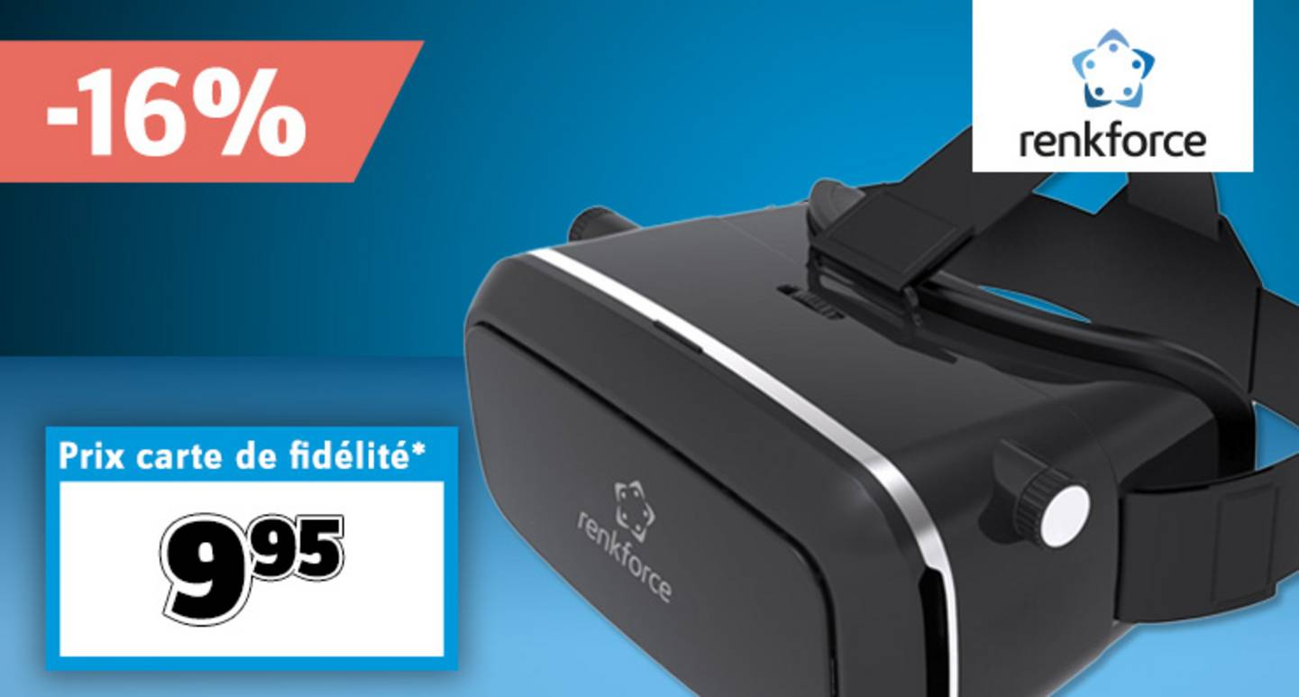 Renkforce - RF-VR1 - Casque de réalité virtuelle noir »