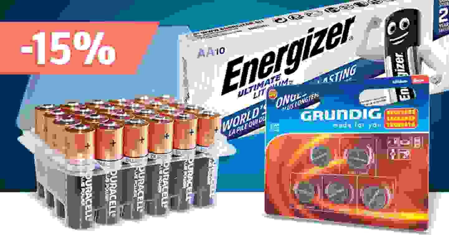 Accus & piles – Découvrir la gamme et profiter des réductions »