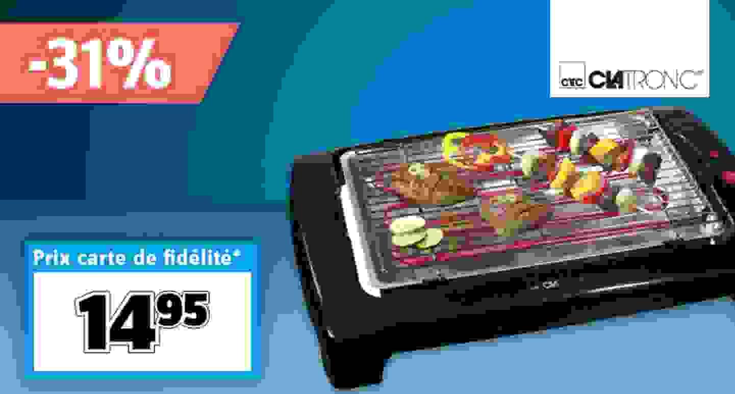 Clatronic - BQ 2977 - Barbecue électrique de table | noir »