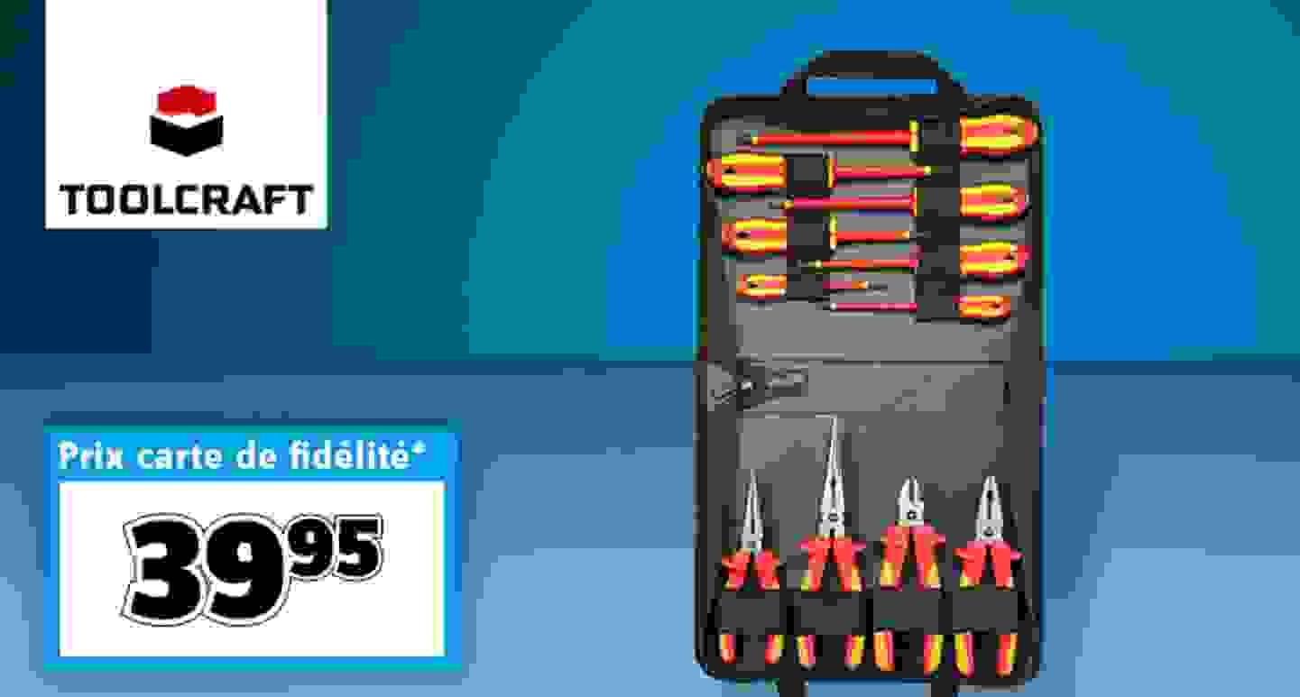 Toolcraft - Jeu d'outils avec sacoche »