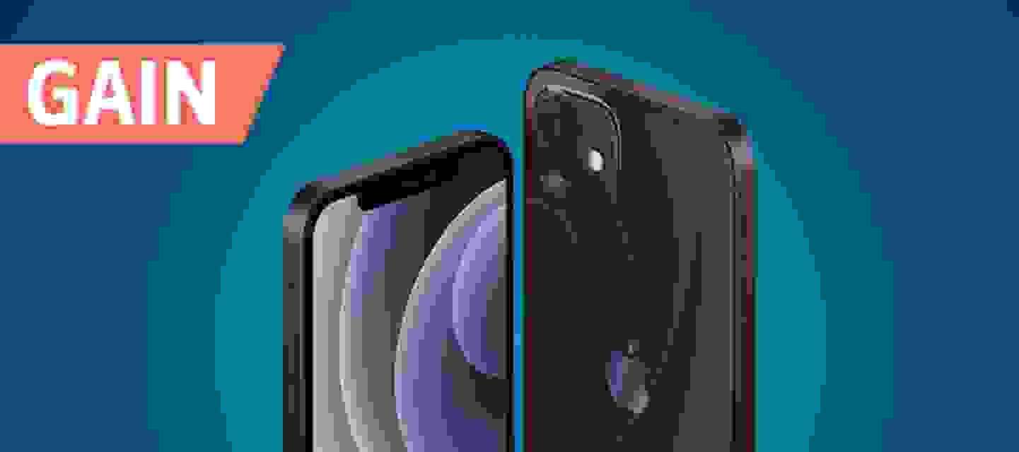 """Apple iPhone 12 Black, 64 Go, 6.1"""" (15.5 cm), double SIM, iOS 14, 12 MP"""