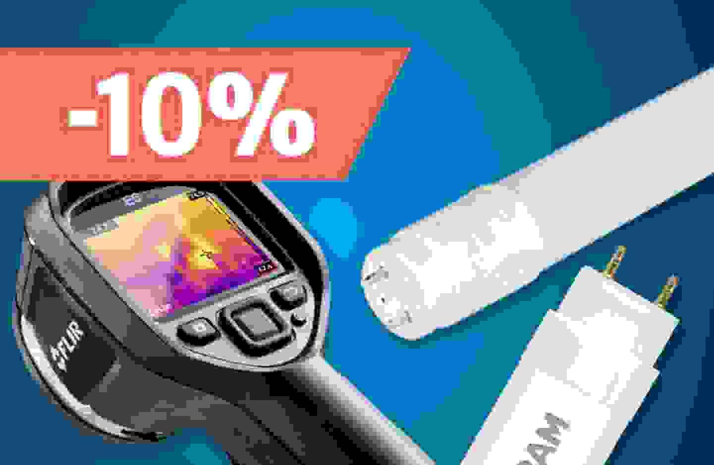 Promotion: 10% de remise sur les tubes à LED et caméras thermiques »