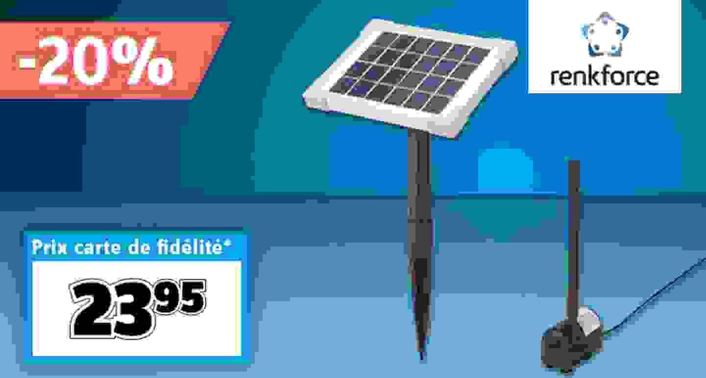 Renkforce - 1007584 - Set pompe solaire 170 l/h »