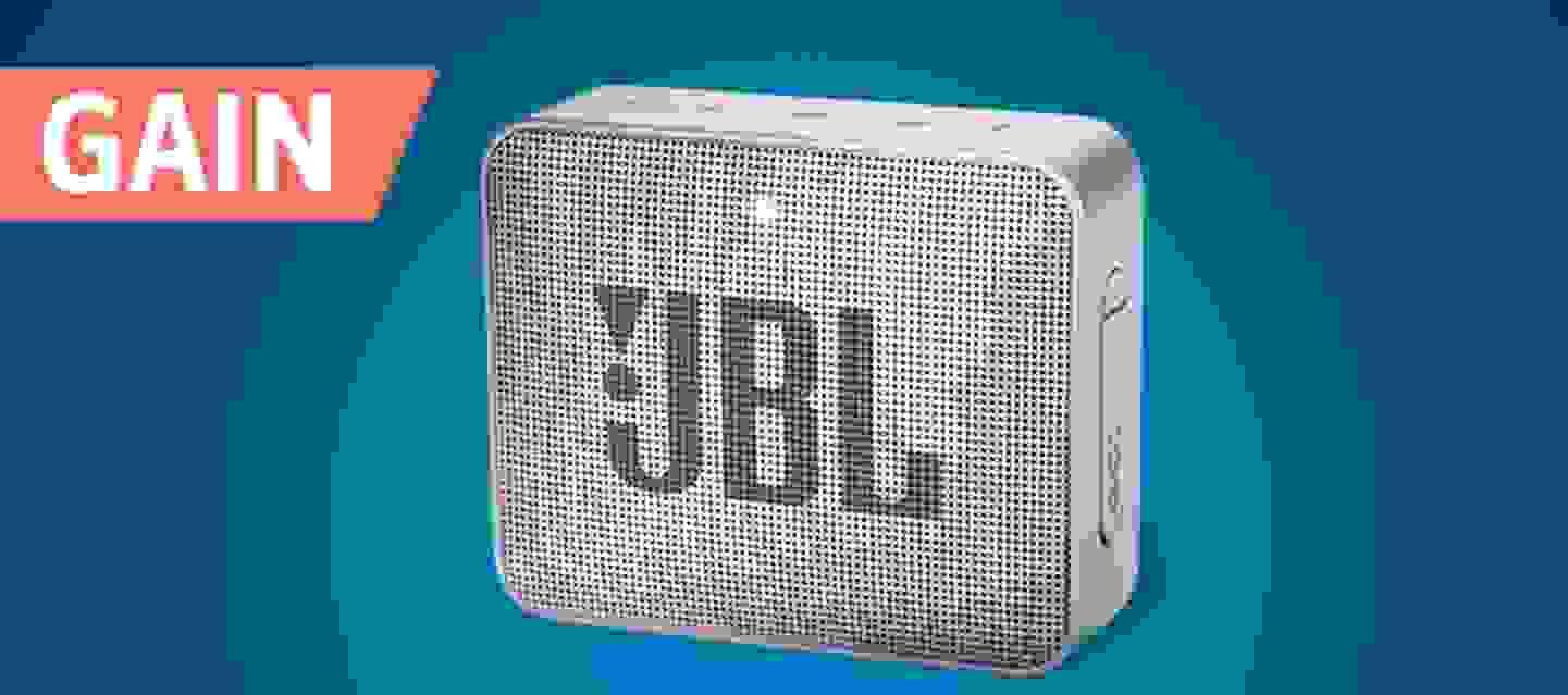 JBL Go2 - Enceinte Bluetooth®, AUX, fonction mains libres, outdoor, étanche grise