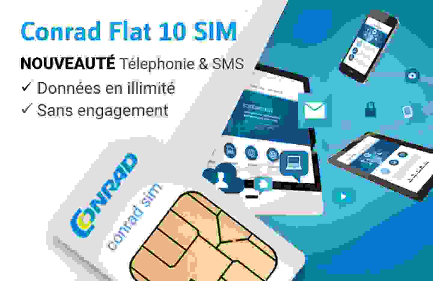 La carte SIM Conrad flat 10 »