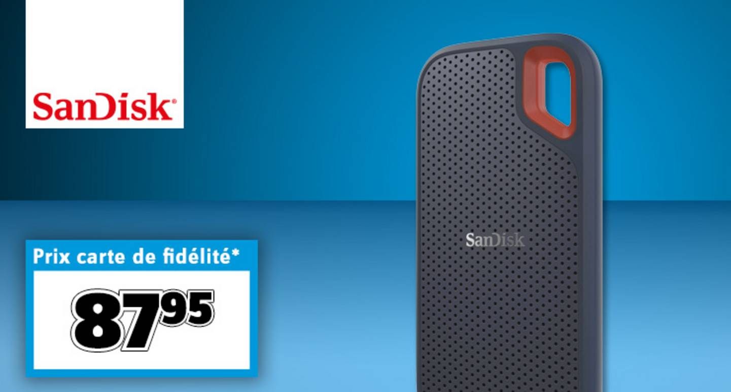 SanDisk - Extreme® Portable - SSD externe 500 Go USB-C™ »