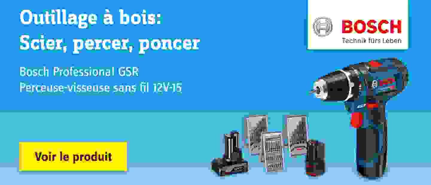 Bosch - Perceuse-visseuse sans fil Bosch Professional 0615990G6L 12 V 2 Ah Li-Ion + 2 batteries, + accessoires, + housse 1 pc(s)