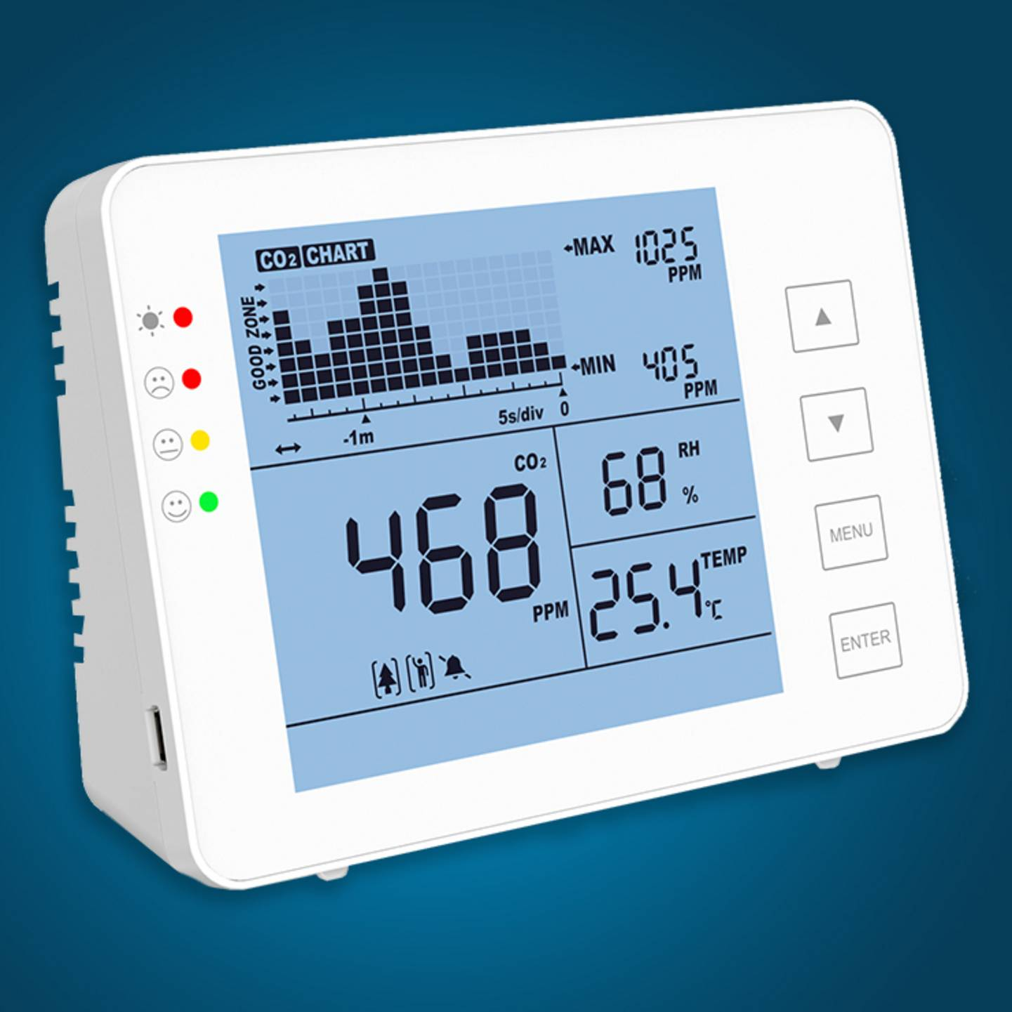 SA 1200P - appareil de mesure du dioxyde de carbone »