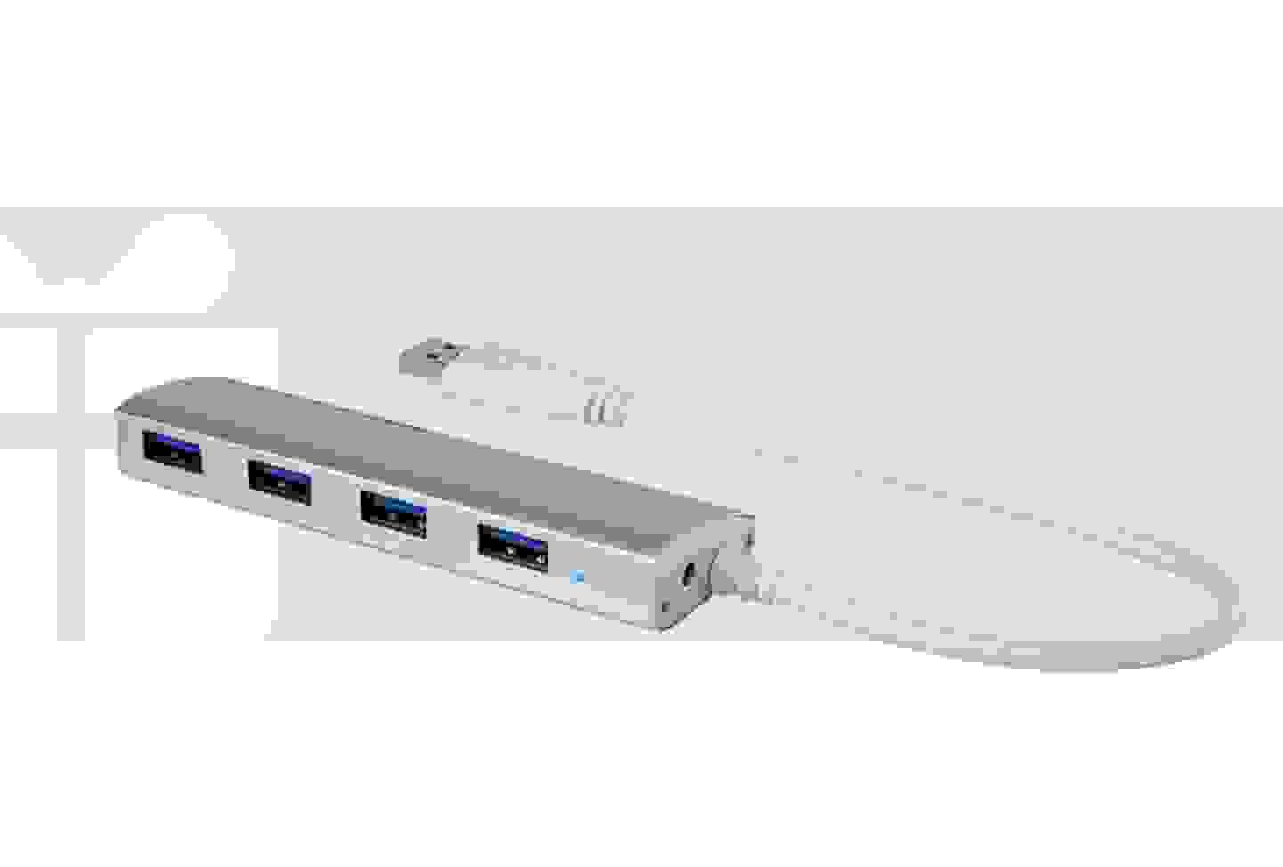 Renkforce - Hub 4 ports USB 3.0, aluminium