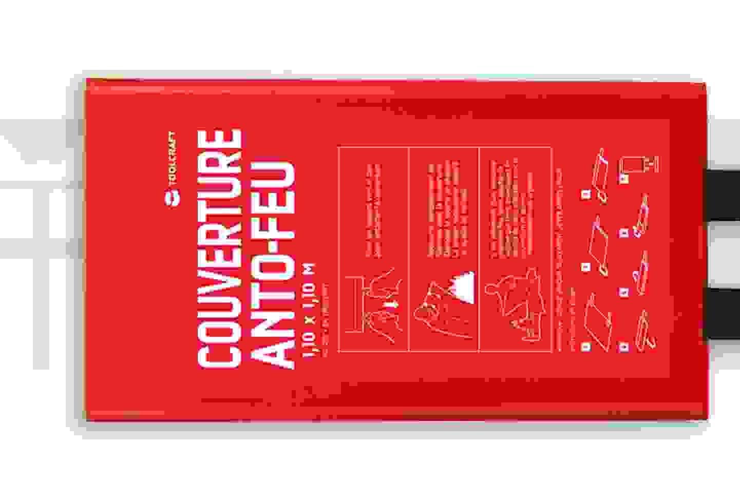Toolcraft - Couverture anti-feu avec boîte de montage »