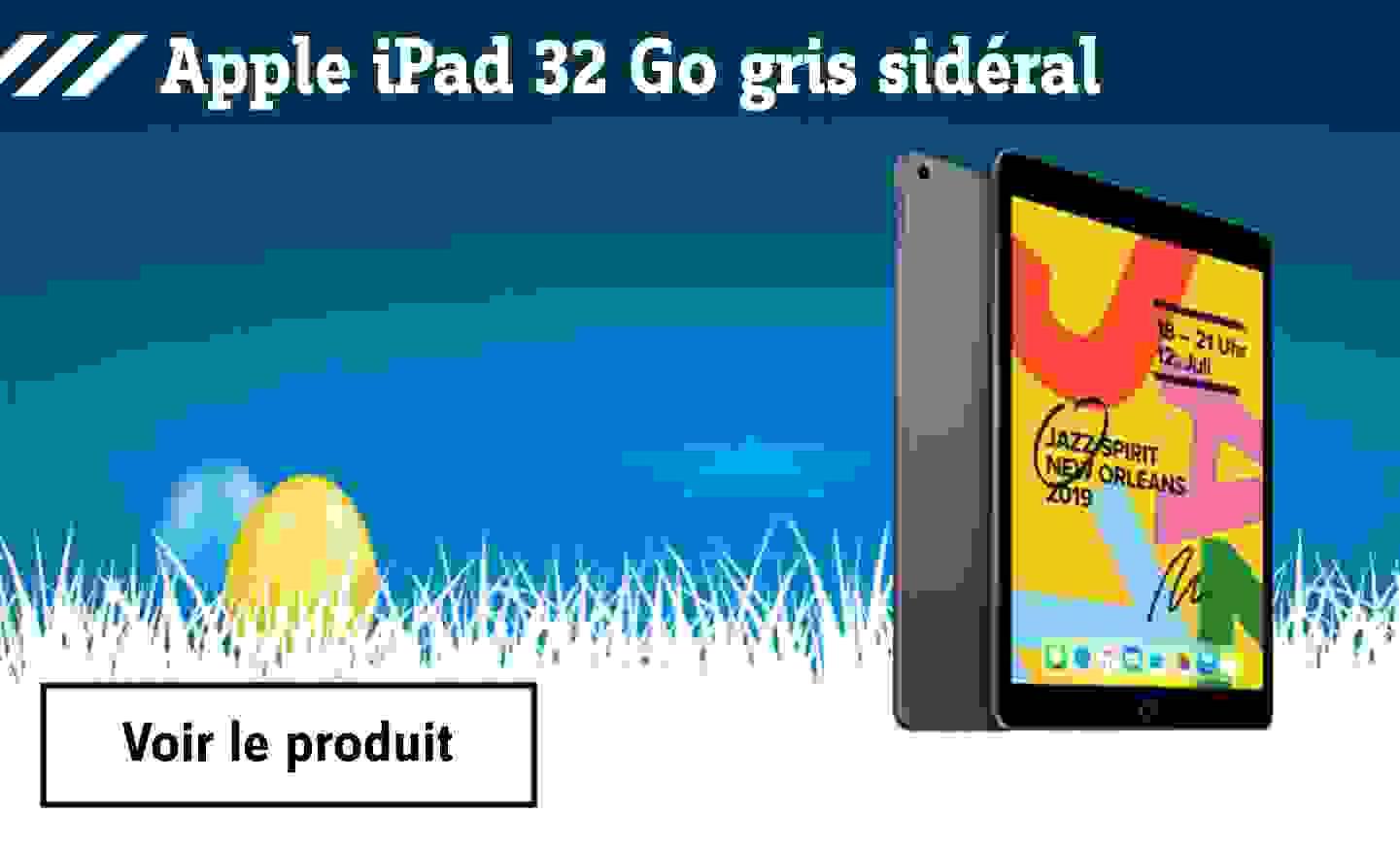 Pâques - Apple iPad 32 Go gris sidéral