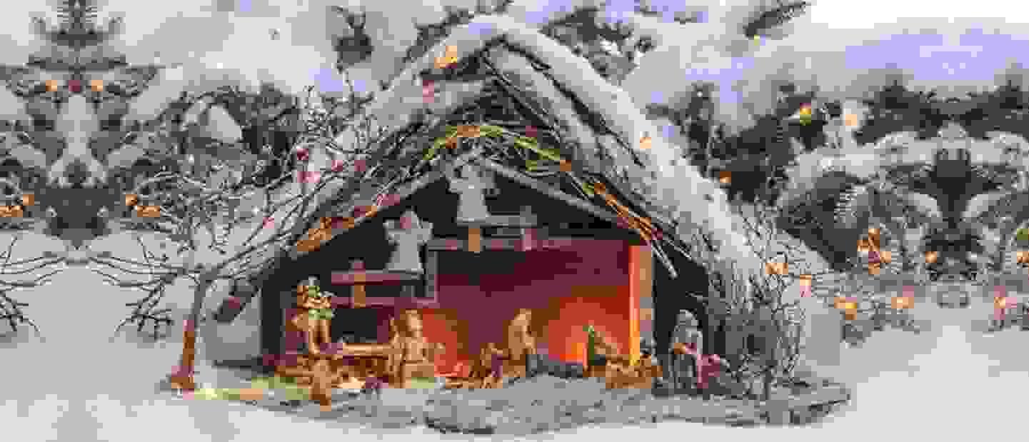 Crèches de Noël - une crèche DIY avec un luxe de détails