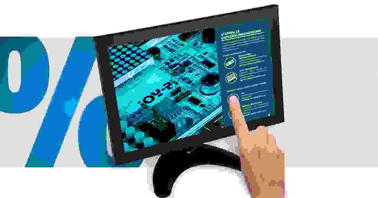 Joy-it - Moniteur à écran tactile - classe énergie : A+ (A++ - E) 25.4 cm »