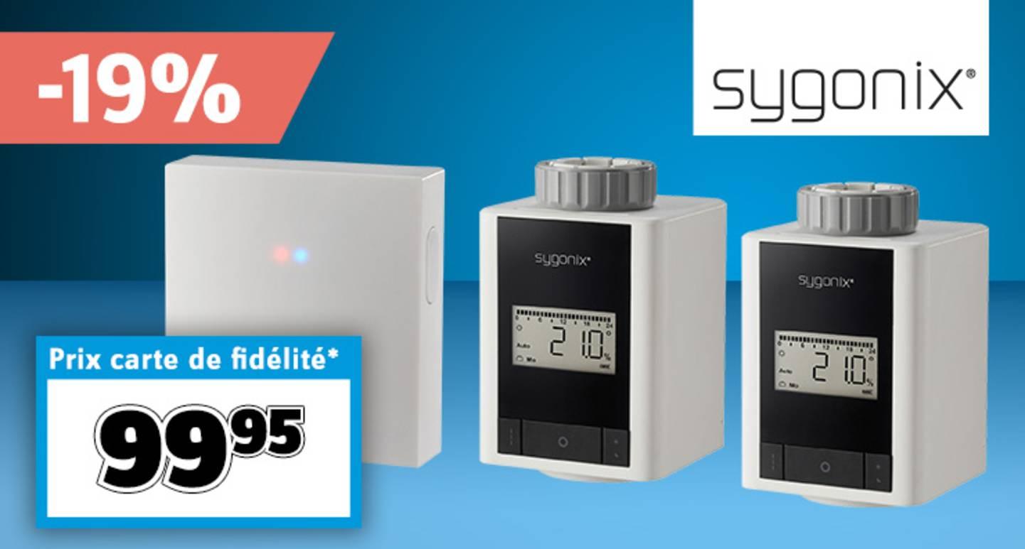 Sygonix - Kit de départ T1 pour 2 têtes thermostatiques