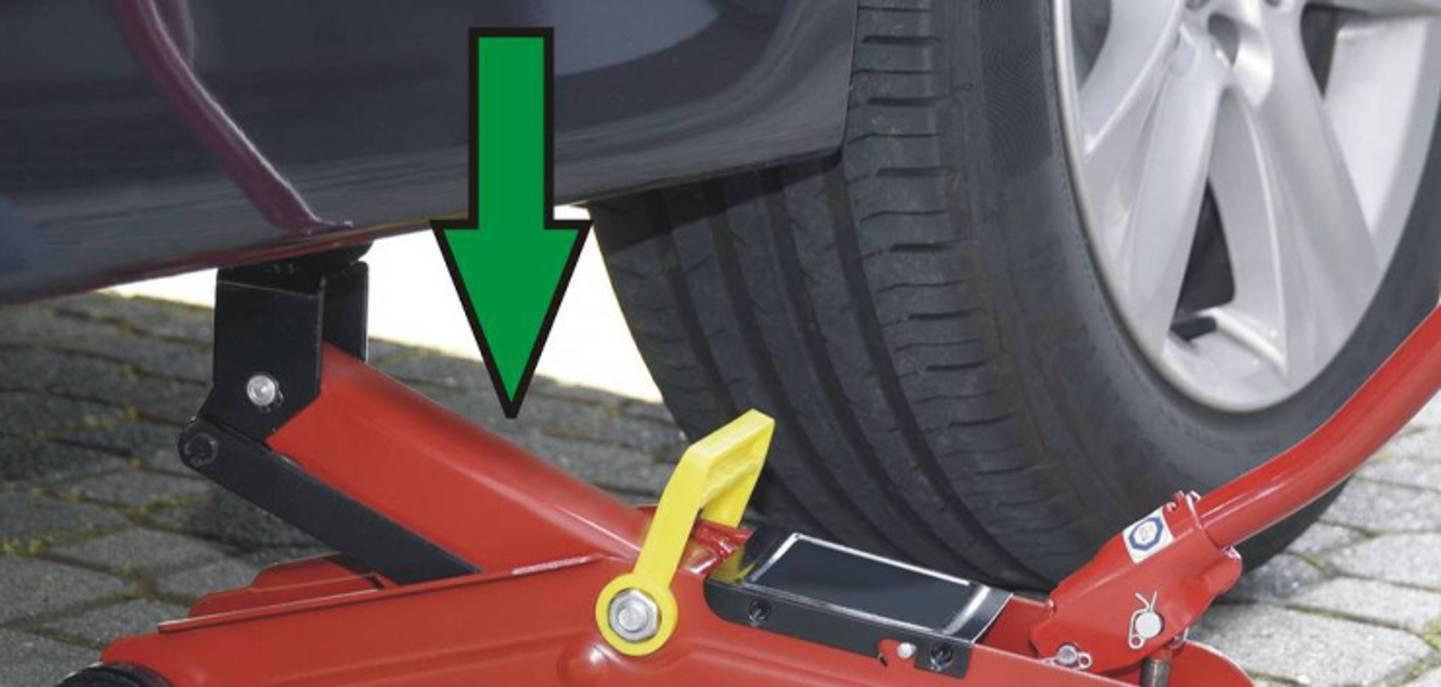 Fahrzeug teilweise ablasen - Wagenheber ansehen »