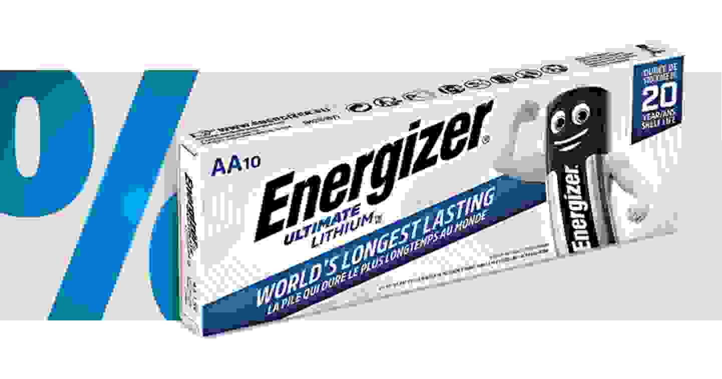 Energizer - Ultimate FR6 - Lot de 10 piles AA Lithium 3000 mAh 1.5 V »