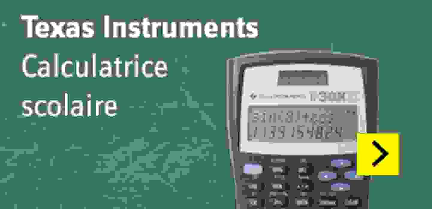 Texas Instruments TI-30 X IIS caculatrice noire, écran argenté 11 chiffres, mode solaire ou à piles